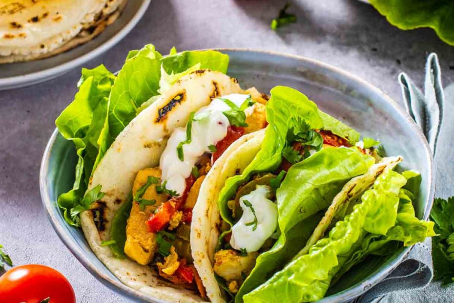 mexican chicken tacos in the bowl